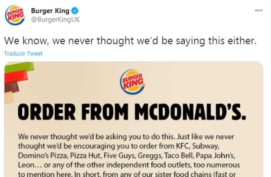 Burger King pide que compren en McDonald's